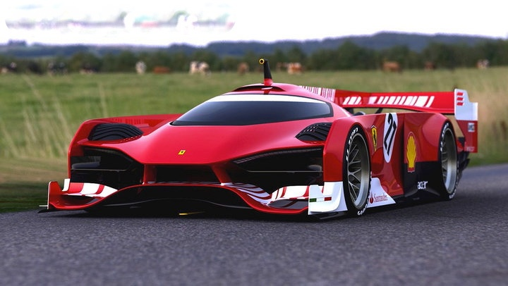 ferrari le mans prototype concept cross between f1 car and a le mans car petrol power. Black Bedroom Furniture Sets. Home Design Ideas