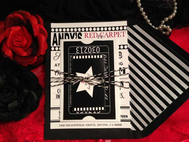 78 best images about Hollywood Theme Bat Mitzvah Ideas on – Hollywood Themed Party Invitations