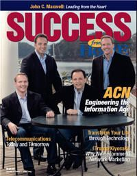 SUCCESS from Home magazine featuring ACN's Co-Founders: Greg Provenzano, Tony Cupisz, Robert Stevanovski, and Mike Cupisz. #ACN #Success #Co-Founders