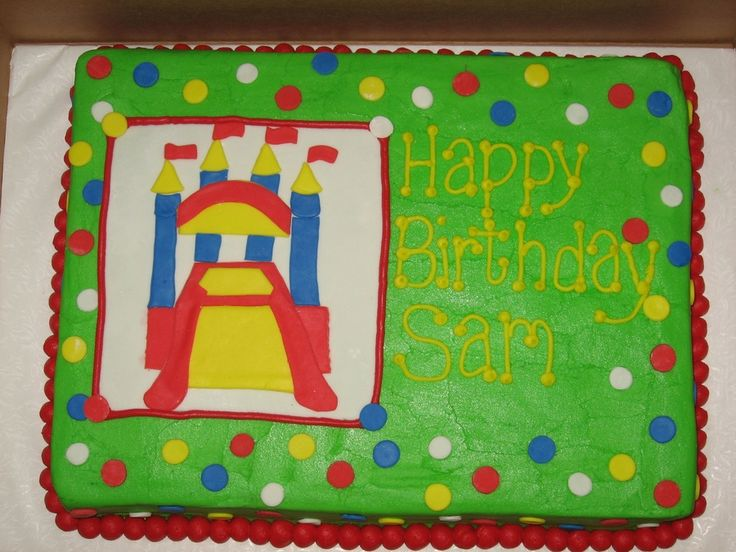 Bounce House To Match An Invitation All Buttercream With Fondant Accents