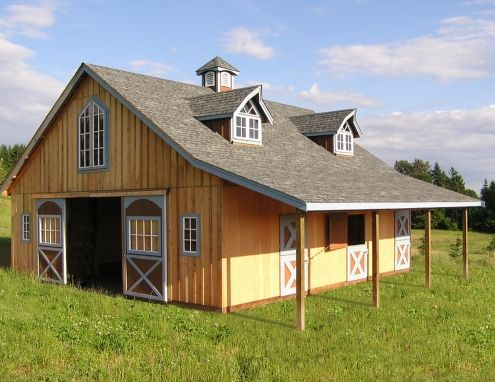 47 best small barn images on pinterest horse stalls American barn style kit homes