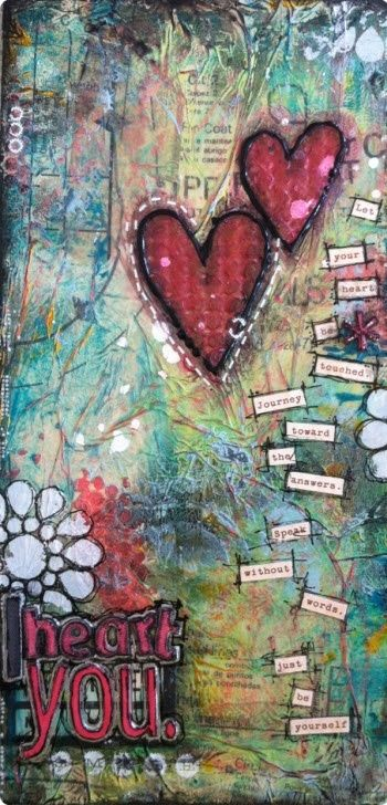Collage Art by ximena.acosta.92.  Open your heart and listen for the answers.