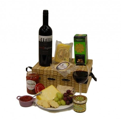 Wine and Cheese Hamper. Hampers UK and Ireland, #gift ideas, #birthday present. http://www.heritagehampers.com/occasions/happy-birthday-gifts-/wine-and-cheese-hamper