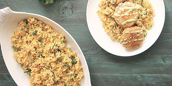 Pilaf de arroz integral con hierbas   Tu Salud