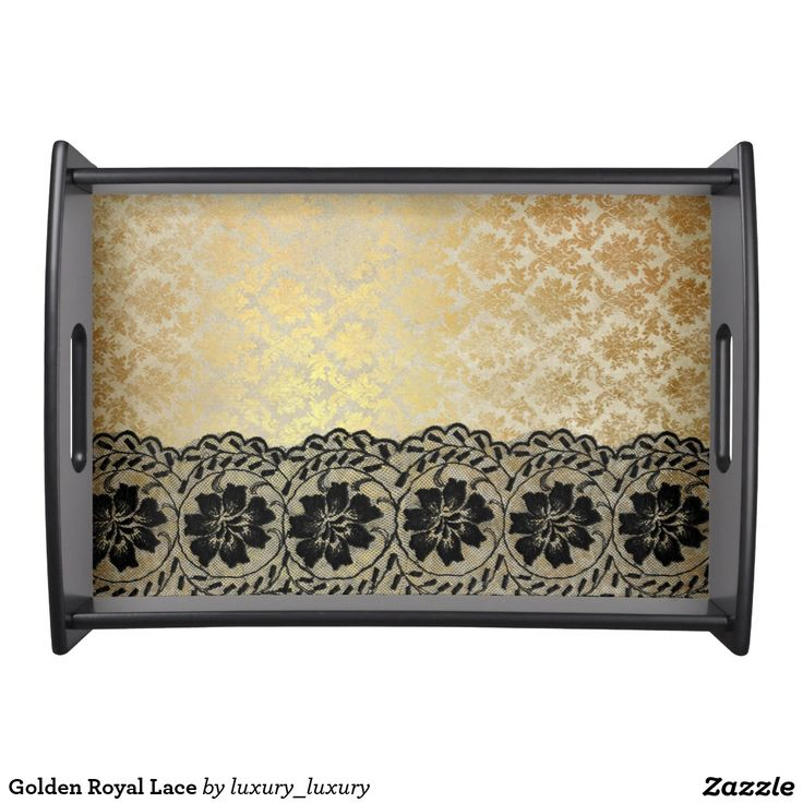 Golden Royal Lace Serving Trays