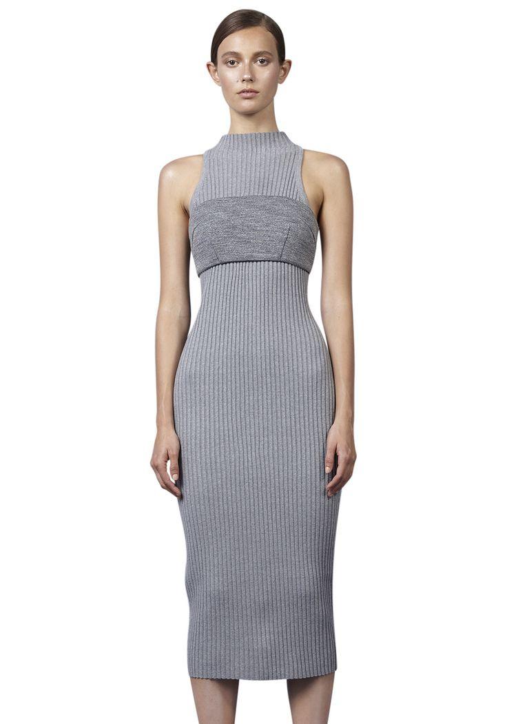 BY JOHNNY  - Slice Panel Knit Dress - Grey