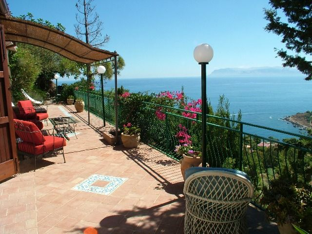 The breathtaking view from the panoramic terrace of Villa Federica and Carlotta, a few steps from the Zingaro nature reserve and from Scopello. http://www.dreamsicilyvillas.com/seaside-sicily-villas/villa-federica-e-carlotta/