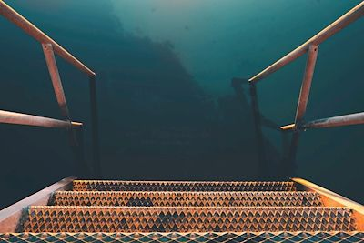 Johnny Jensen - Rostig, rust, stairs, abstract photo art, prints and posters