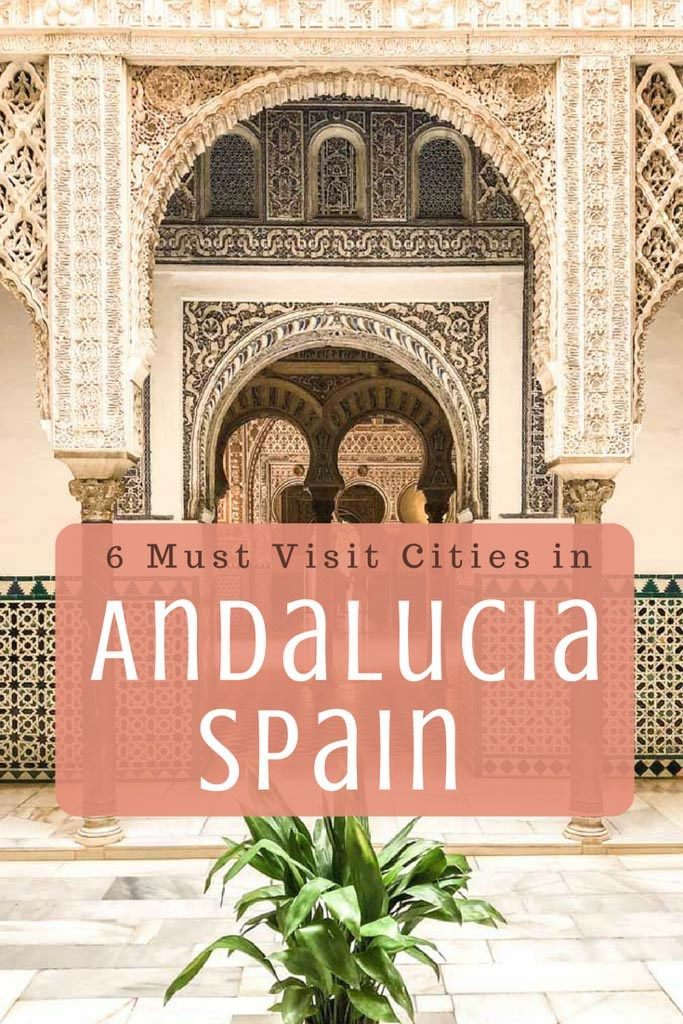 Tour of Andalucia Spain: 6 Must Visit Cities in Andalucia Spain. It's full of rolling mountains, valleys, beautiful coastline, and national parks. It's a must visit if you head toSpain! This post will share how to have the perfect tour of Andalucia at your own pace.  It's full of historic cities, charming villages, and beautiful nature. I spent almost a month visiting this region - #andalucia #spaintravel