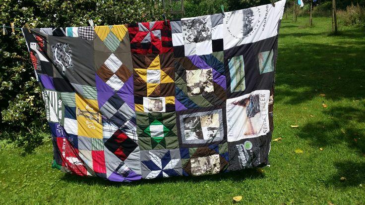 Memory blanket  made  of shirts