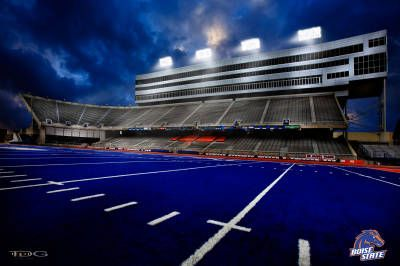 Boise State Football - The Smurf Turf Lived there, Ron is a BSU Alumni and FAN!