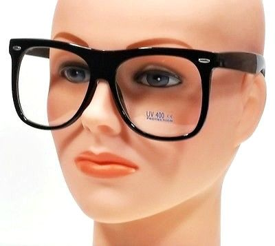 extra large vintage men women clear lens square classic frame eyeglasses