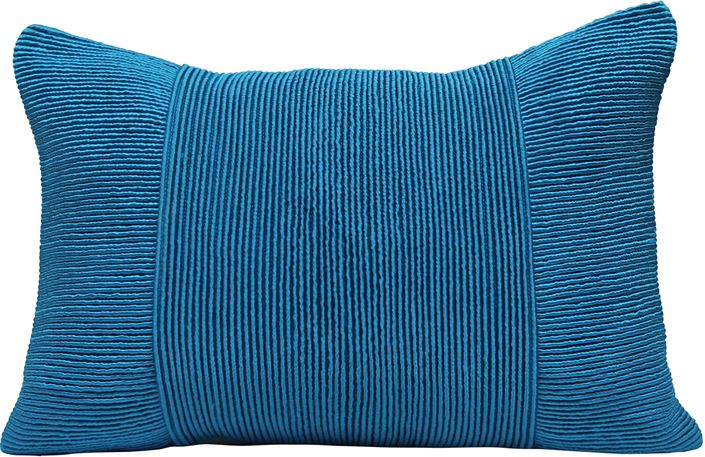 The Tessa Pleated Pillow - Teal from Urban Barn is a unique home décor item. Urban Barn carries a variety of Cushions and other  products furnishings.