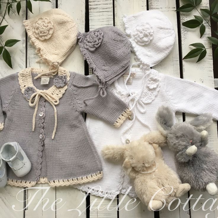 a pure breath of fresh air! Idyllic for all sorts of weather conditions. These sweaters, bonnets and hats, in a variety of colors, are sImply gorgeous for Easter or even for a day at the park. These are hand made especially for The LIttle Cottage, and are currently being marketed worldwide off our website!