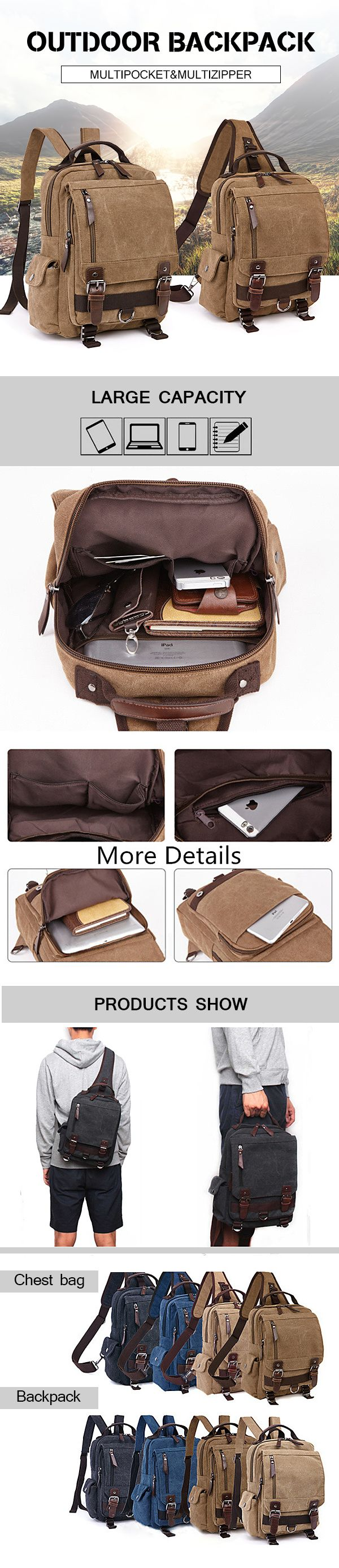 Travel Outdoor Backpack_ Casual Crossbody Bag