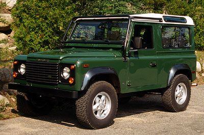 my liking of landrover defenders is inexplicable.  Battered old ones best.