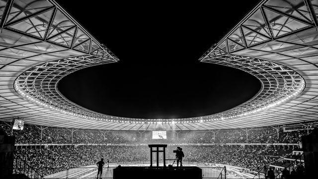 The night soccer match at Berlin Olympic Stadium  Photo by Reinhard Krull on EyeEm