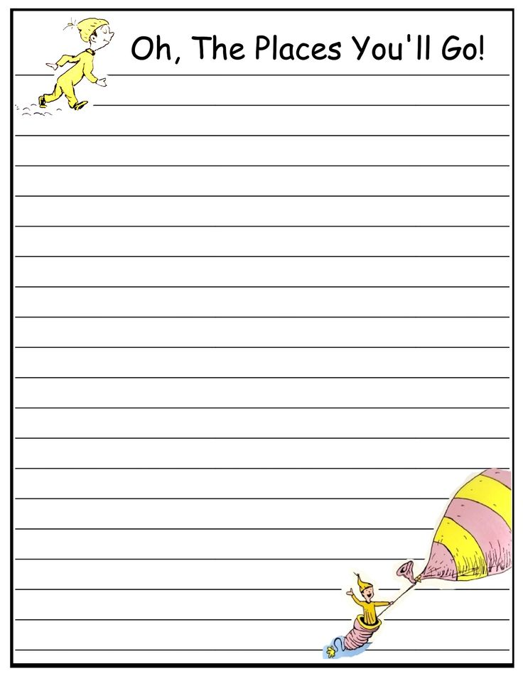 dr. seuss paper | Dr. Seuss writing papers (FREE)
