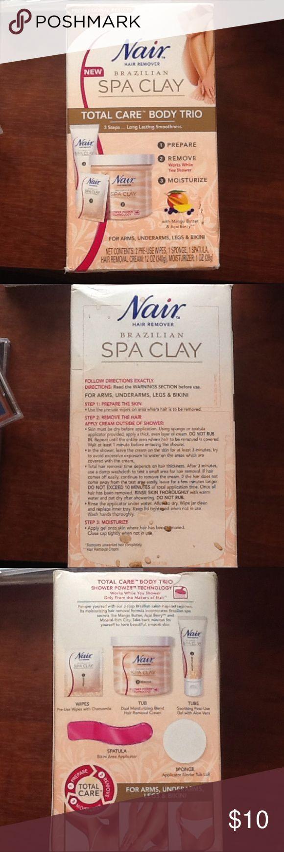Nair Hair Remover Brazilian Spa Clay Total Care Nair Hair Remover Brazilian Spa Clay Total Care  Body Trio  For arms, underarms, legs, & bikini Nair Makeup
