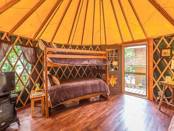 This yurt that's included with a mountain home for sale in Georgia is probably nicer than most of our full-size houses.  http://www.estately.com/listings/info/18725-highway-157