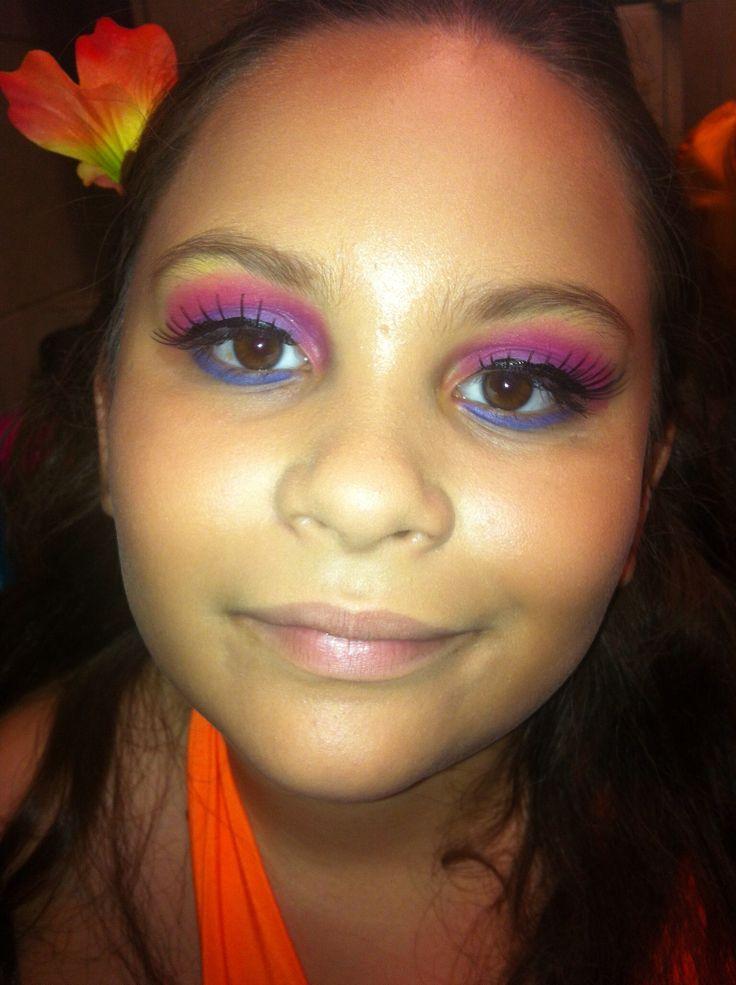 Maquillaje hawaiano
