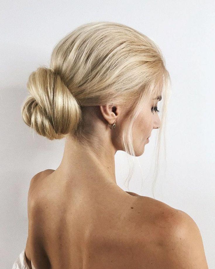 Elegant bridal updo hairstyle,chignon,low bun wedding hairstyle #chignon ,wedding updo hair ideas