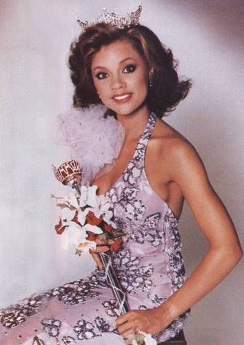 September 17, 1983 - Vanessa Williams was crowned Miss America 1984, becoming the first African American to win the title. On July 23, 1984 she resigned after nude photos of her surfaced (taken before her pageant days).