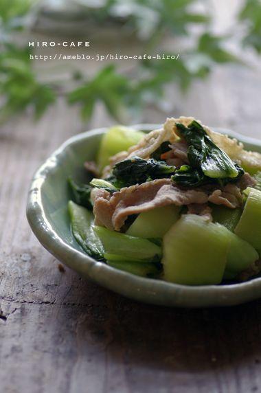 チンゲン菜と豚肉のオイスター炒め☆   美肌レシピ