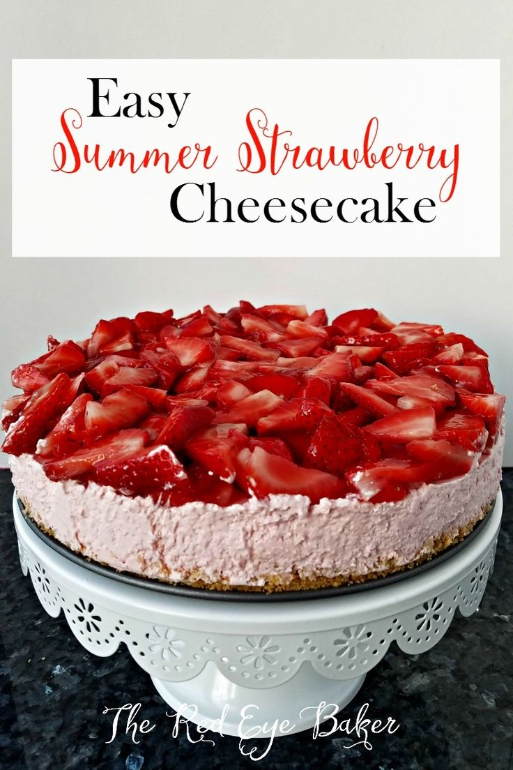 Beat the summer heat with this no bake and simple, light and tasty, summery strawberry dessert! http://sweetteaandsavinggraceblog.com/easy-summer-strawberry-cheesecake/?utm_campaign=coschedule&utm_source=pinterest&utm_medium=Sweet%20Tea%2C%20LLC%20%20%7C%20%20Blogging%20and%20Email%20Marketing&utm_content=Easy%20Summer%20Strawberry%20Cheesecake