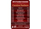 3.5x2.25 in One Team Carolina Panthers Football Schedule