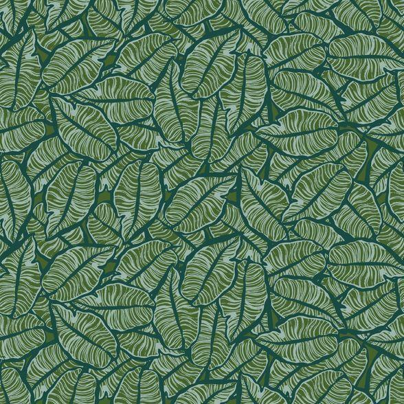 Layered Leaves Peel Stick Wallpaper Opalhouse In 2021 Peel And Stick Wallpaper Wallpaper Green Aesthetic