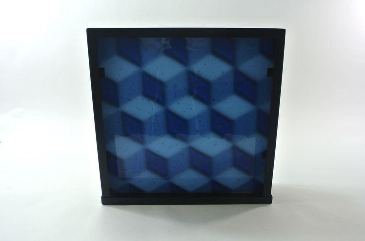 SiJu Glass 678 Tessellations 5 Plaque 26x26x6cm deep
