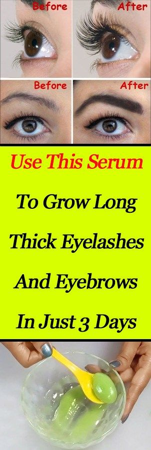 Use This Serum to Grow Long Thick Eyelashes And Eyebrows In Just 3 Days well show you how to grow eyelashes with this amazing DIY miracle serum. Growing your eyelashes out CAN take some time and if youre not doing the right things to grow them you could be looking