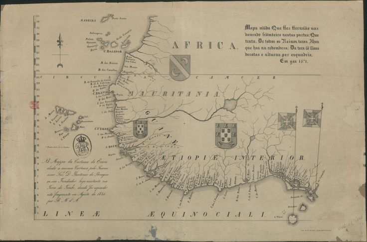 Portuguese map of Western Africa - 16th century