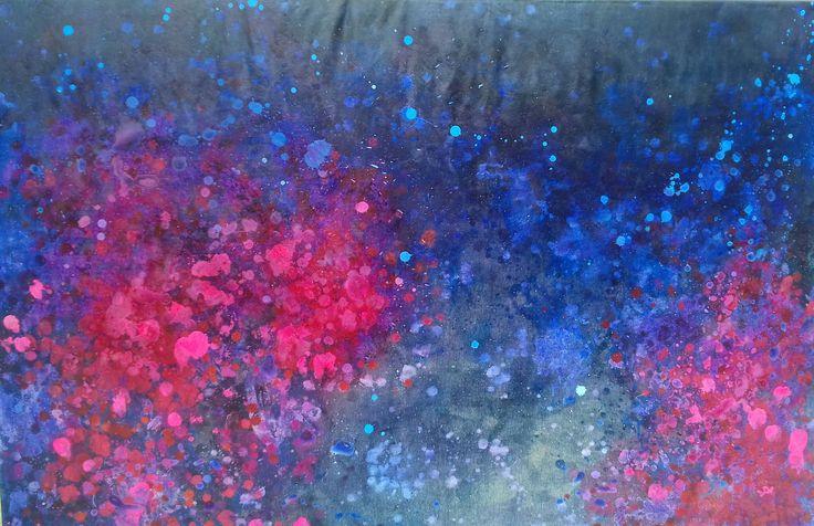 Harka Ágnes: Night, 100x150 cm oil on canvas