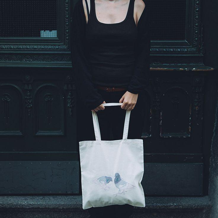 Pigeons - ekologická plátěná taška | Blindberry.com