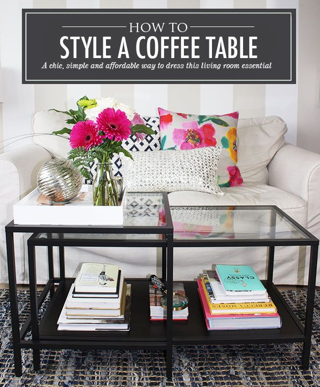 How to Style a Coffee Table - IKEA VITTSJO Nesting tables