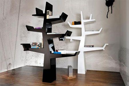 Libreria moderna a forma di albero, la modulare Wintertree