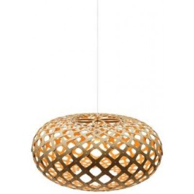 David Trubridge Kina, pomarańczowa lampa bambusowa