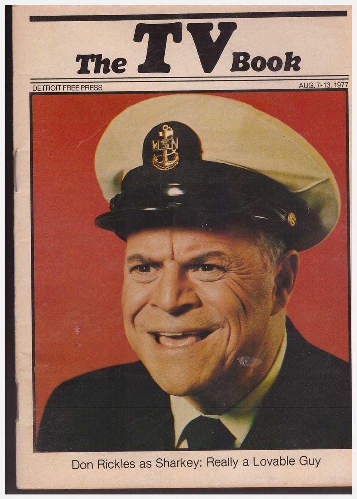 Don Rickles -CPO Sharkey Series- Detroit Free Press TV Book -Aug 7  -13, 1977  | eBay