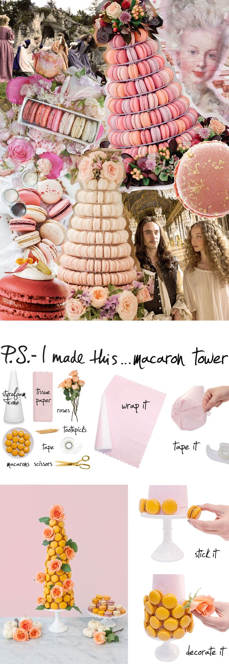 Nothing says deliciously chic more than a macaron tower. Check out this DIY to make your own tower for your next party!
