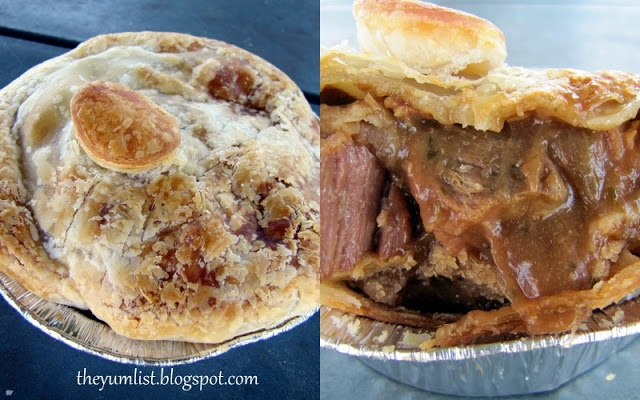 Great Aussie meat pies at Woodburn