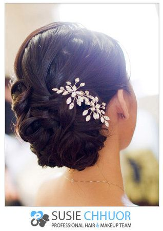 Hair, Updo, Photography, Asian, Brooch, Susie chhuor professional hair and makeup team, Life, Embrace, Susie