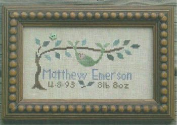 cross stitch patterns birth record elephant | Birth Announcements cross stitch charts available at Stitcher's Place