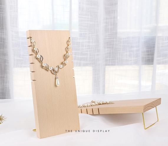 Hey I Found This Really Awesome Etsy Listing At Https Www Com Uk 733057009 Necklace Wood Displa Jewelry Stand Display Organization