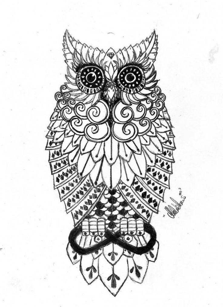 tattoo owl coloring pages - photo#8