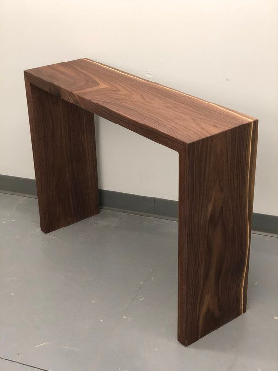 Waterfall Entryway Table Hardwood Sofa Table Etsy Entryway Tables Hand Crafted Furniture Entryway Decor