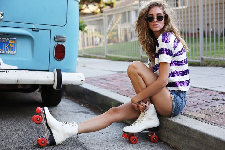 retro roller skating outfits - Google Search