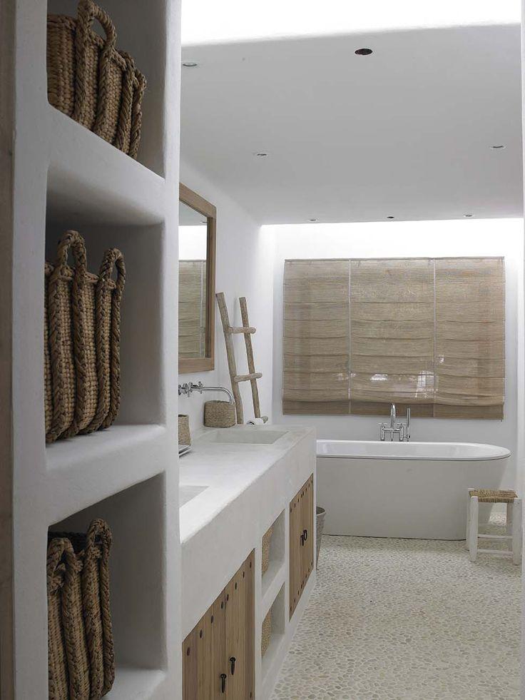 Baño - bathroom - rústico, sencillo, blanco, madera