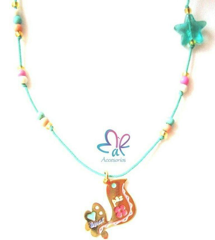 Mar Accesorios ♥ collar paz y amor oro golfield #accesorios #accessories #aretes #earrings #collares #necklaces #pulseras #bracelets #bisuteria #jewelry #colombia #moda #fashion